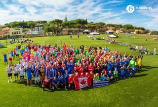 An International walking football tournament for over 50s