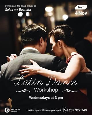 Novidade: Workshop de Dança Latina!