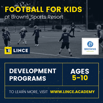 Football for kids at Browns