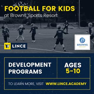 Futebol para crianças no Browns