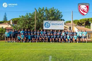 Gloucester Rugby treina no Browns em Setembro de 2019
