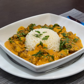 Veal Curry with Basmati Rice